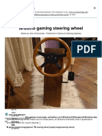 Arduino Gaming Steering Wheel