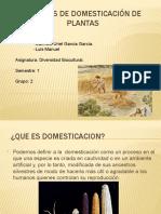Centros de Domesticación de Plantas
