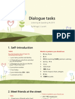 Tasks of Dialogue