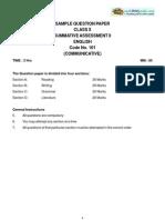 10 Sample Paper Term2 EnglishA