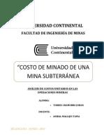 Analisis Costos Unitarios Mineria