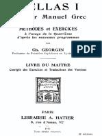 Hellas I. Premier manuel grec. Livre du maître.