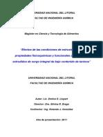 Efectos de Las Condiciones de Extrusión en Las Propiedades Fisicoquímicas y Funcionales de Productos Extrudido