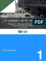 New York City DOT 8th Ave Presentation June 2019