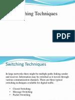 CS-506 (Leacture No.3) SwitchingTechniques