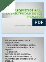 Pre-requisitos Para La Efectividad de Los Procesos