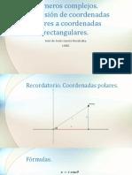 Coordenadas polares a rectangulares