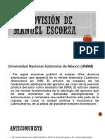 Cosmovisión de Manuel Escorza