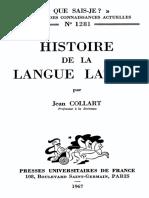 Histoire de la langue latine.