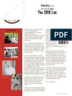2018 Truth About Pet Food List