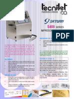 Brochure S480 - Tecnijet CA