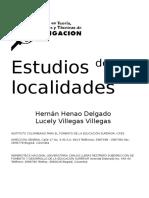 Estudios de Localidades