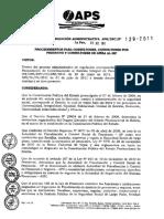 APS-Res+Adm+2011-129+Procedimientos+Consultores