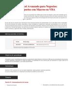 Excel Avanzado Para Negocios Reportes Con Macros en VBA (2)