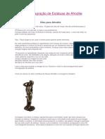 Rito de Consagração de Estátuas de Afrodite
