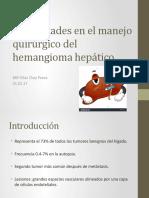 Actualidades en El Manejo Quirúrgico Del Hemangioma Hepático