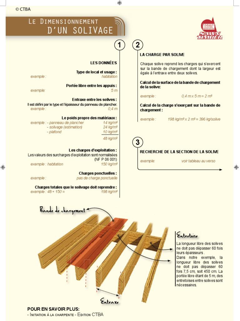 Dimensionnement Plancher Bois Calcul Solivage # Solivage Plancher Bois