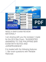 BAR EXAM 2018 REVIEW MATERIAL