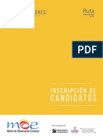 Ruta Electoral 2018 Inscripción de Candidatos