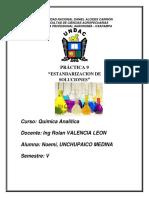 Informe de Estandarizaciòn