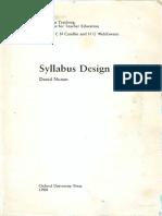 Nunan 1988 Syllabus Design