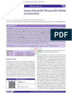 Efficacy of Modified Jessner's Peel and 20% TCA Versus 20% TCA Peel Alone for the Treatment of Acne Scars