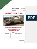 NORMET-SST-PLN-002 PLAN DE PREPARACION Y RESPUESTA PARA EMERGENCIAS 2019.....docx