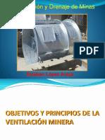 11º Clase de Ventilaión y Drenaje Principios Ventilación Minera. Circuitos y Sistema de Ventilación
