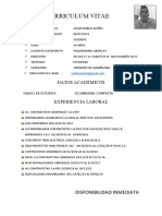 Curriculum Vitae Robles