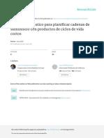 Prof Cadena Suministro Modelo Estocastico Para Planificar Cadenas de Sumi