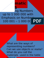 Visualizing Numbers Up to 1 000 000 With Emphasis on Numbers 100 001 – 1 000 000