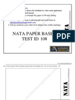 Free NATA 2019 Sample Paper Download in PDF Set 8
