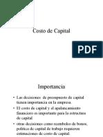 Costo de  Capital - Finanzas Corporativas
