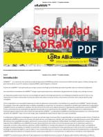 Seguridad en Redes LoRaWAN ™ - Tecnologia Humanizada