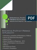 Cap. 5 Estrategias, Políticas y Premisas de Planeación