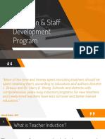induction   staff development