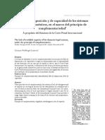 Principio de complementariedad en la CPI