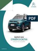Ficha Tecnica Nuevo Suv c4 Cactus