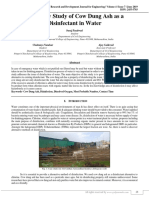 Feasibility Study of Cow Dung Ash as a Disinfectant in Water