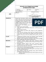 003 - SPO Pulang Atas Permintaan Sendiri (PAPS) Di Ruang Rawat Inap
