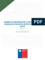 Norma Organización y Funcionamiento de Unidades de Paciente Crítico Pediátrico 003