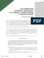 Los Derechos Economicos Sociales Y Culturales Limitacion y Proteccion