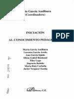 García Amilburu-Iniciacion a La Pedagogía-Cap. Antropología de La Educación