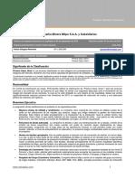 Minera InformedeClasificacion PCR 3T13 Eng