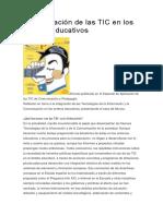 teoriaLa integración de las TIC en los centros educativos.docx