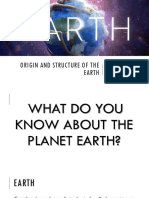 Origin and Structure of the Earth