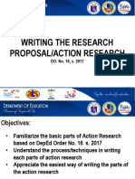 6. Writing the Research Proposal or Action Research 2 Hrs