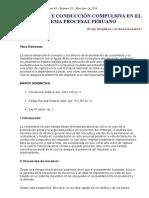 Contumacia y Conducción Compulsiva en El Sistema Procesal Peruano