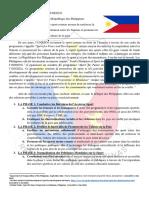 Papier de Position - UNESCO PIMUN 2019 - Les Philippines