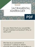 why sacramental marriage